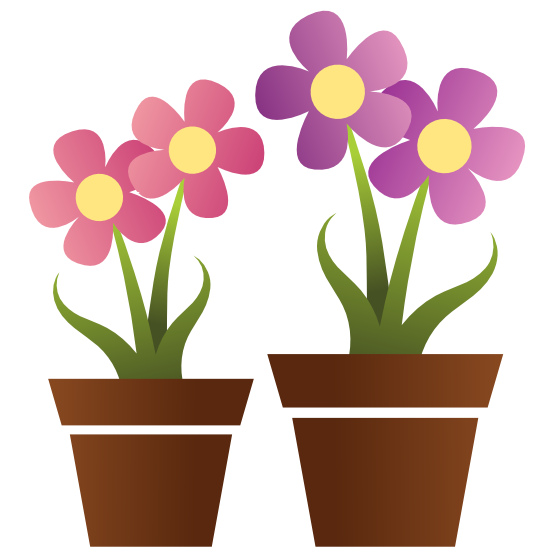Cute flower pots clipart for mothers day vector free library Free Cute Flower Clipart, Download Free Clip Art, Free Clip ... vector free library