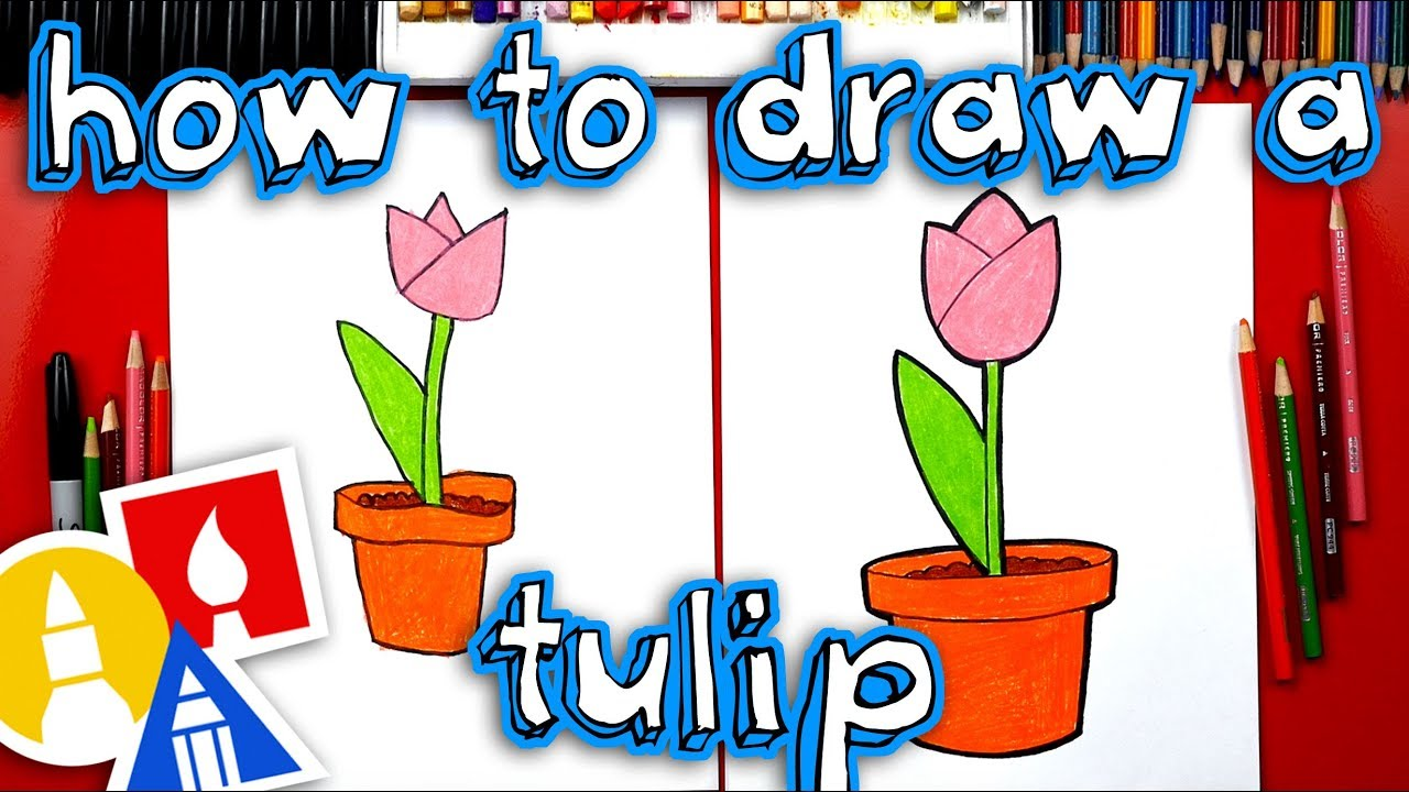Cute flower pots clipart for mothers day image library download How To Draw A Tulip In A Pot - Plant A Flower Day image library download