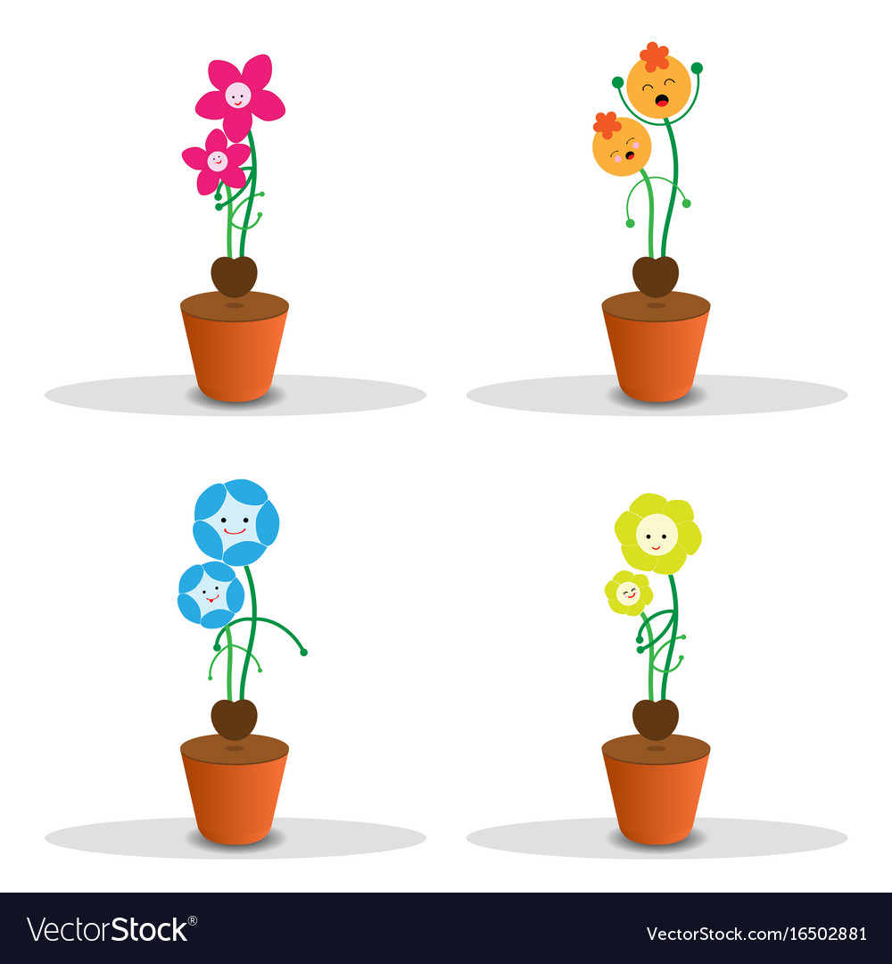 Cute flower pots clipart for mothers day svg Cute flower pot for mothers day svg