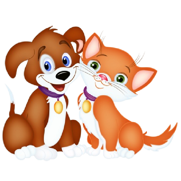 Pictures of cartoon dogs. Free clipart dog and cat together