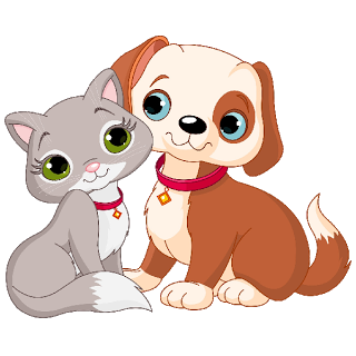 Puppy and 3 kitten on bed clipart jpg free download Cat and Dog Clip Art | Cartoon Cat And Dog Clip Art Images ... jpg free download