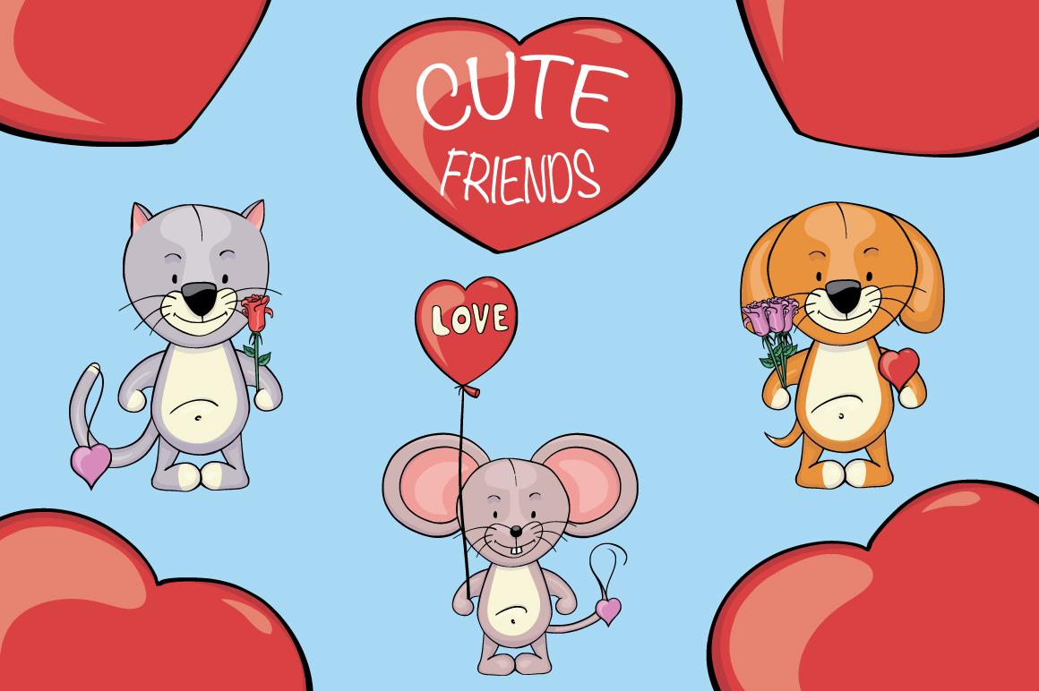 Cute Friends |Animals clipart mini creator jpg royalty free stock