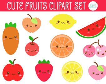 Cute fruit clipart clip art freeuse stock Free Cute Fruit Cliparts, Download Free Clip Art, Free Clip Art on ... clip art freeuse stock