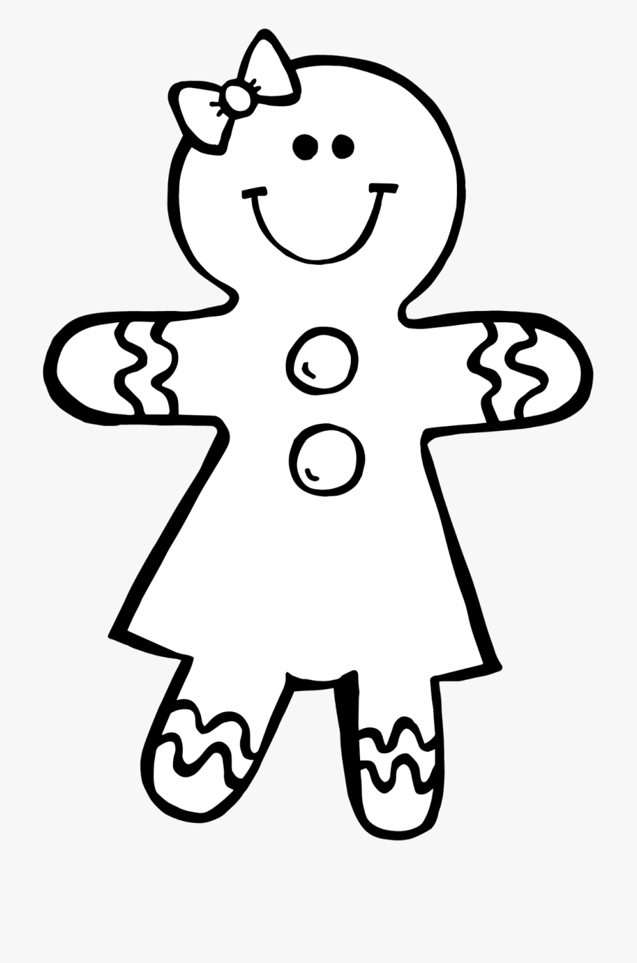Ginger bread clipart black and white free clip stock Free Gingerbread Men Clipart Download Clip Art Clever - Gingerbread ... clip stock