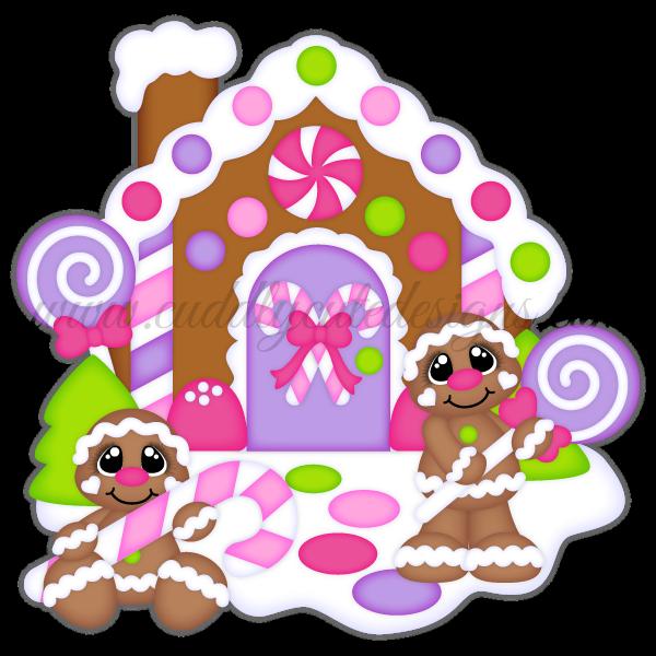 Cute gingerbread house clipart. Christmas