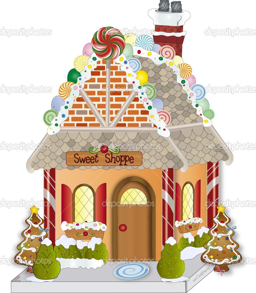 Cute gingerbread house with candy canes clipart vector royalty free stock gingerbread house clipart | Gingerbread House Candy Clipart ... vector royalty free stock
