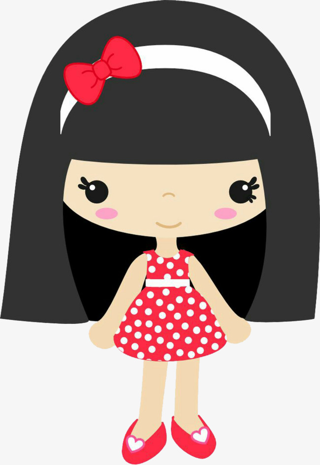 Cute Girl Clipart Little Black Hair PNG Image And Creative Qualified ... transparent stock