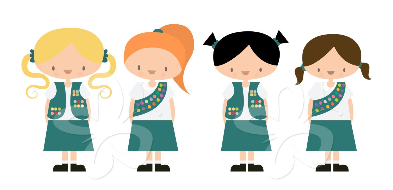 Cute girl scout juniors clipart not on pinterest svg download Girl Scouts Clip Art Clipart Set Commercial by ... svg download