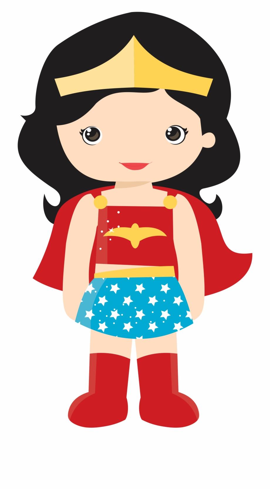 Wonder woman she can do it clipart banner transparent download Superhero Clipart - Wonder Woman Cute Png | Transparent PNG Download ... banner transparent download