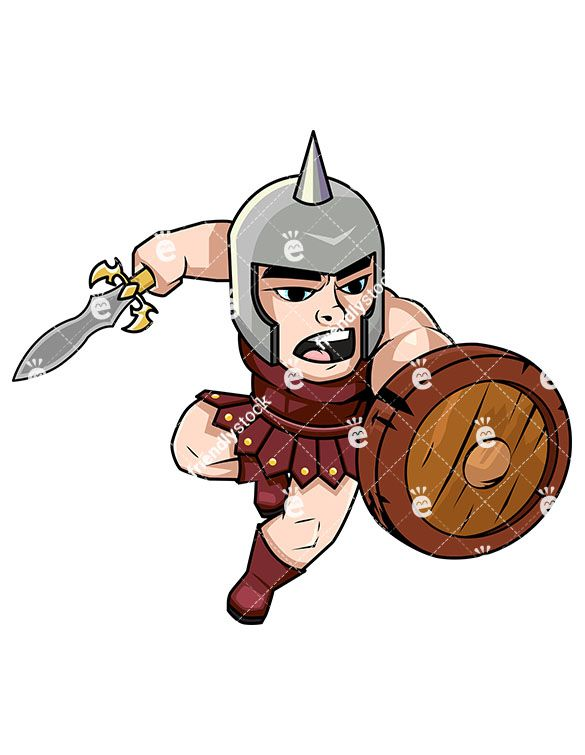 Cute gladiator clipart royalty free library Gladiator With Sword And Shield Charging | cute app designs in 2019 ... royalty free library
