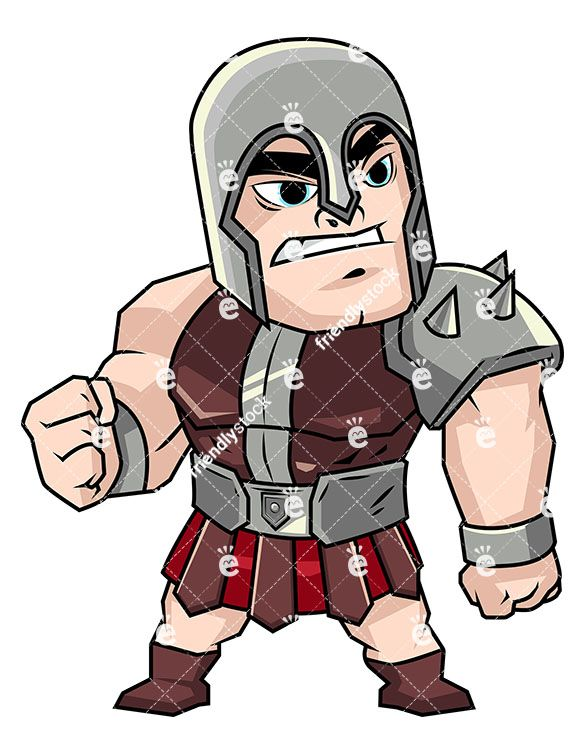 Cute gladiator clipart clip art library stock Angry Gladiator In Heavy Armor | Clip Arts | Vector clipart, Clip ... clip art library stock