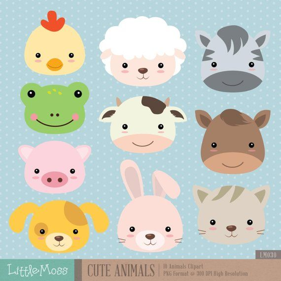 Cute graphics moss clipart jpg library download Cute Animals Digital Clipart | Products | Clip art, Cute animals ... jpg library download