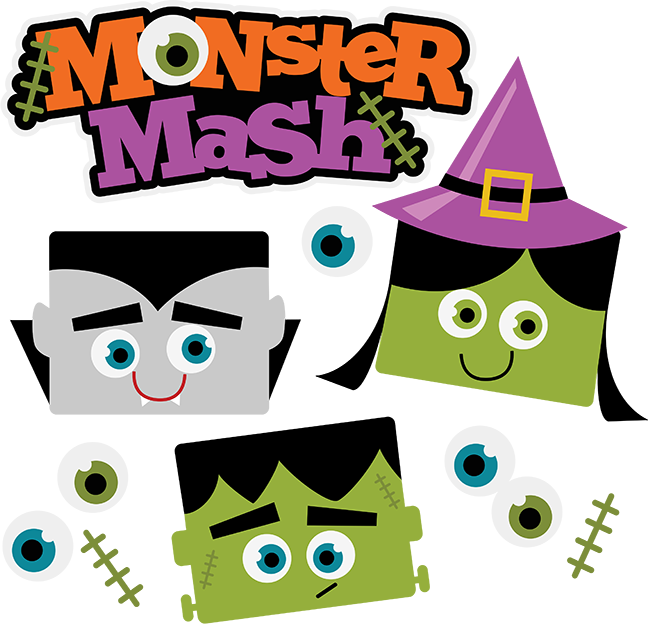 Halloween monster clipart banner library download 28+ Collection of Halloween Monster Mash Clipart | High quality ... banner library download