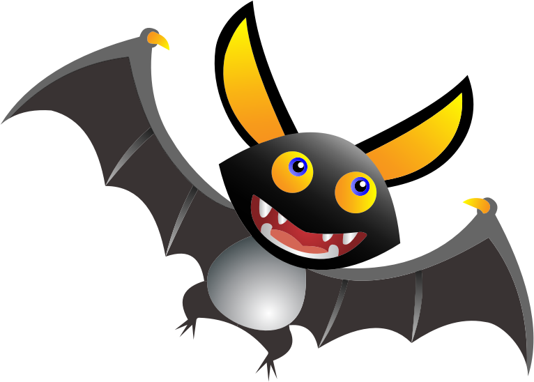 Cute halloween bat clipart. Cartoon medium image png