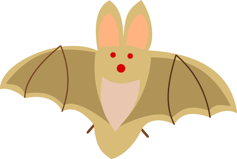 Halloween flying bats clipart clipart freeuse download Halloween and Vampire Bat Clipart - Free Halloween Images clipart freeuse download