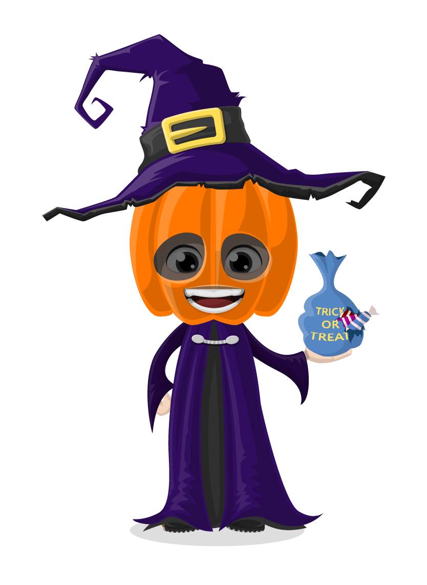 Cute halloween characters clipart picture 28+ Collection of Cute Halloween Character Clipart | High quality ... picture