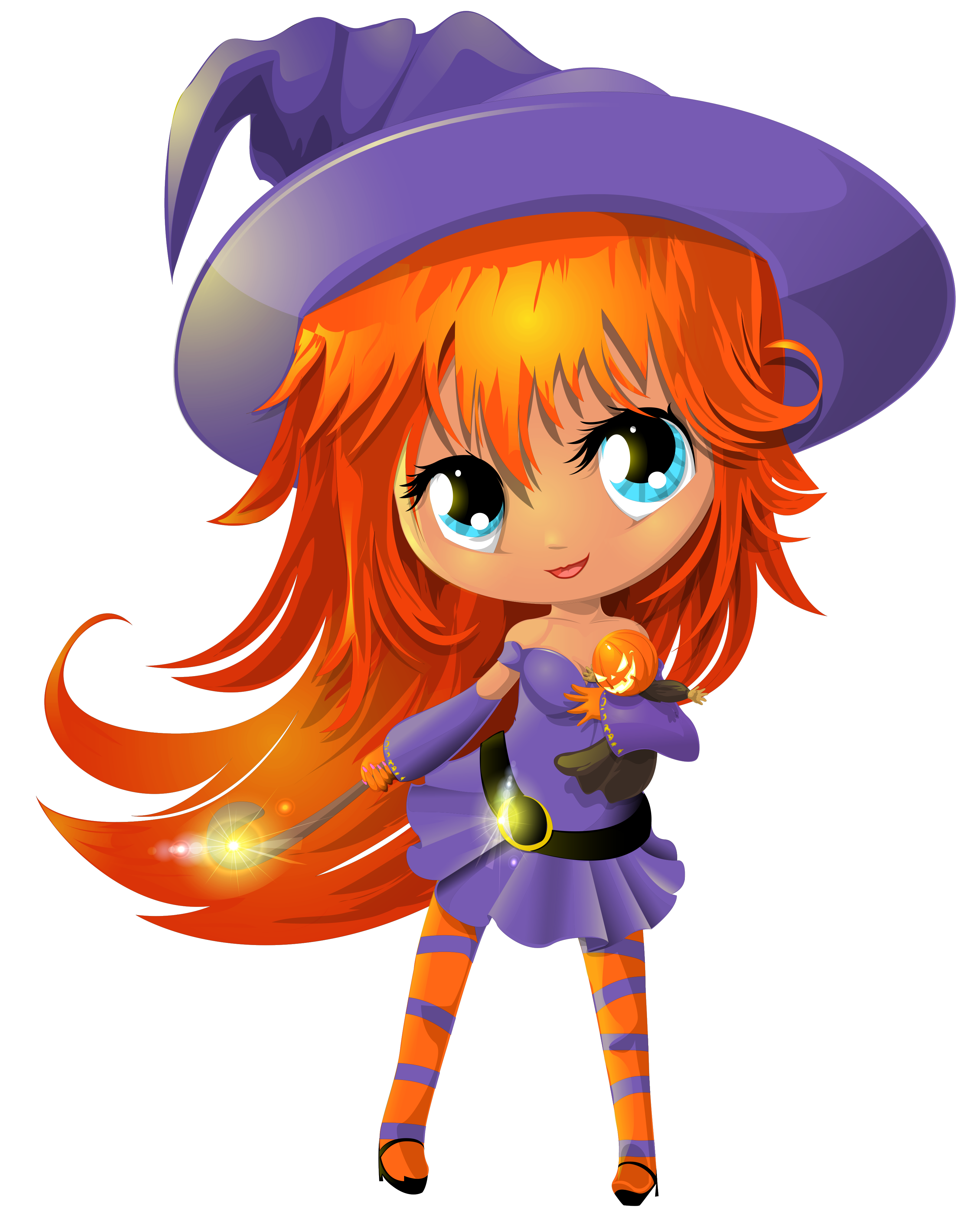 Cute halloween clipart witch image black and white stock Cute Witch Transparent PNG Clipart | Gallery Yopriceville - High ... image black and white stock