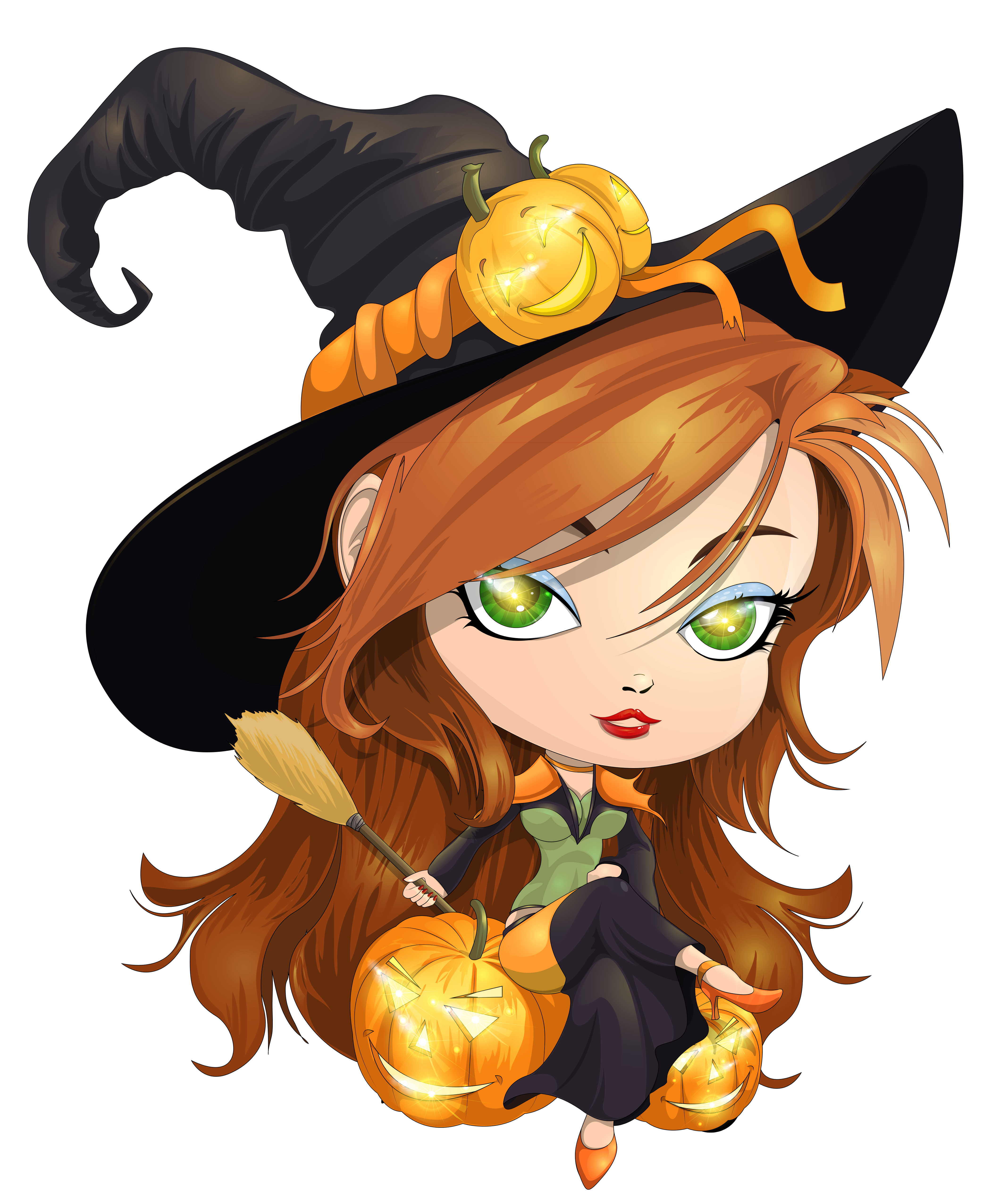 Cute halloween clipart witch clip art library Cute Witch Transparent Clipart Picture | Gallery Yopriceville ... clip art library