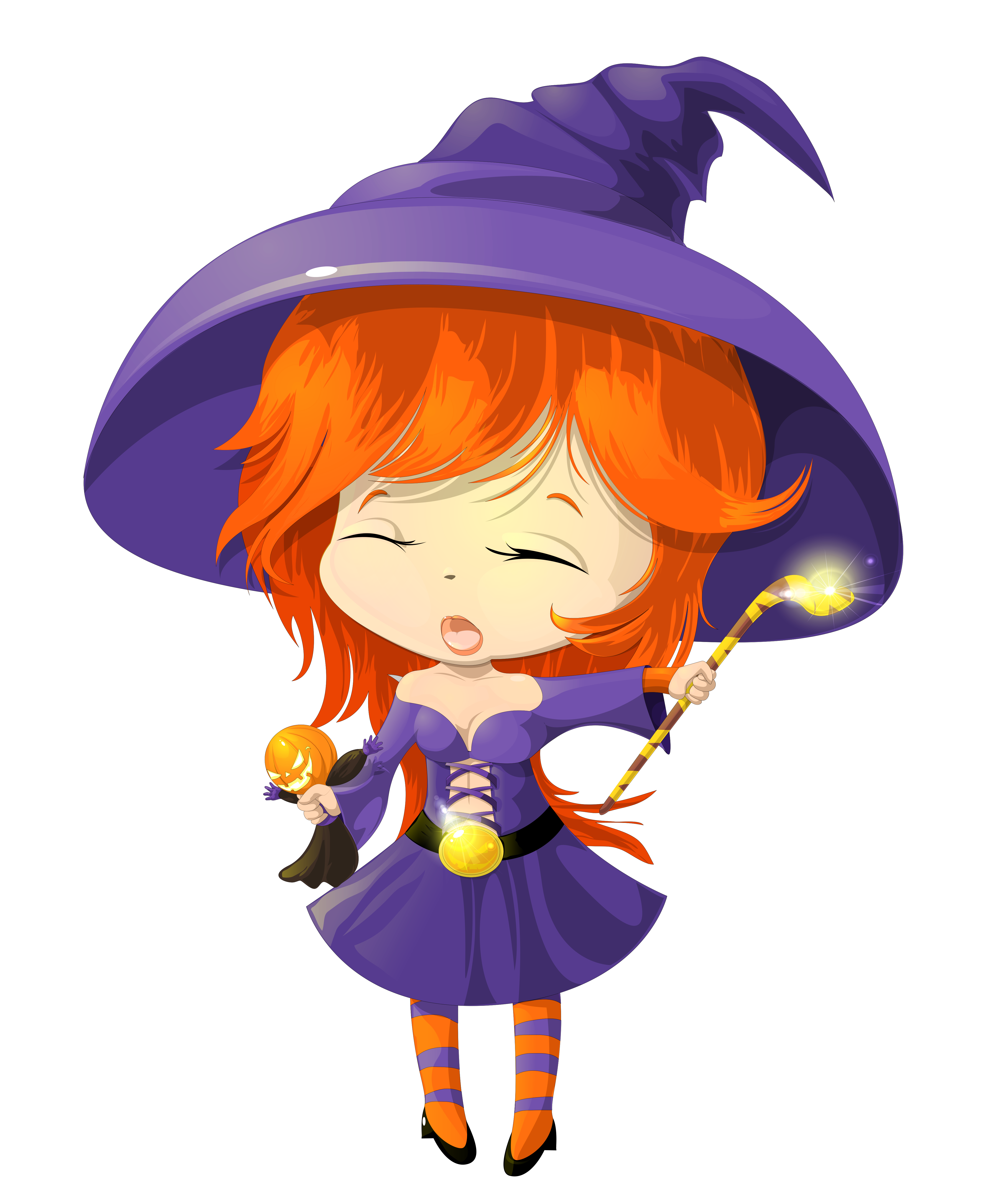 Cute halloween costume clipart svg library download Cute Purple Witch Transparent Clipart | Gallery Yopriceville - High ... svg library download