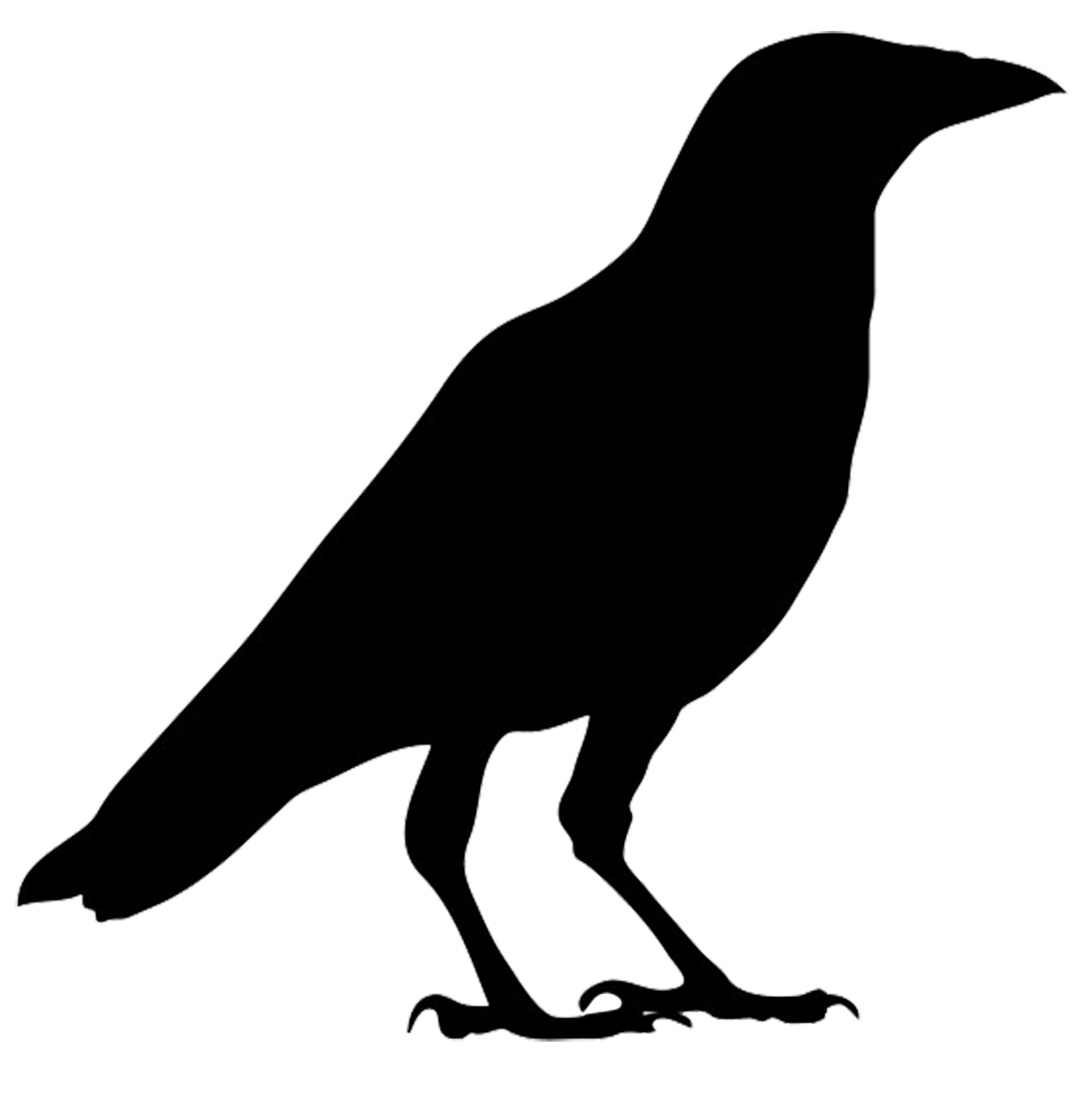 Raven halloween clipart vector black and white download 28+ Collection of Halloween Crow Clipart | High quality, free ... vector black and white download