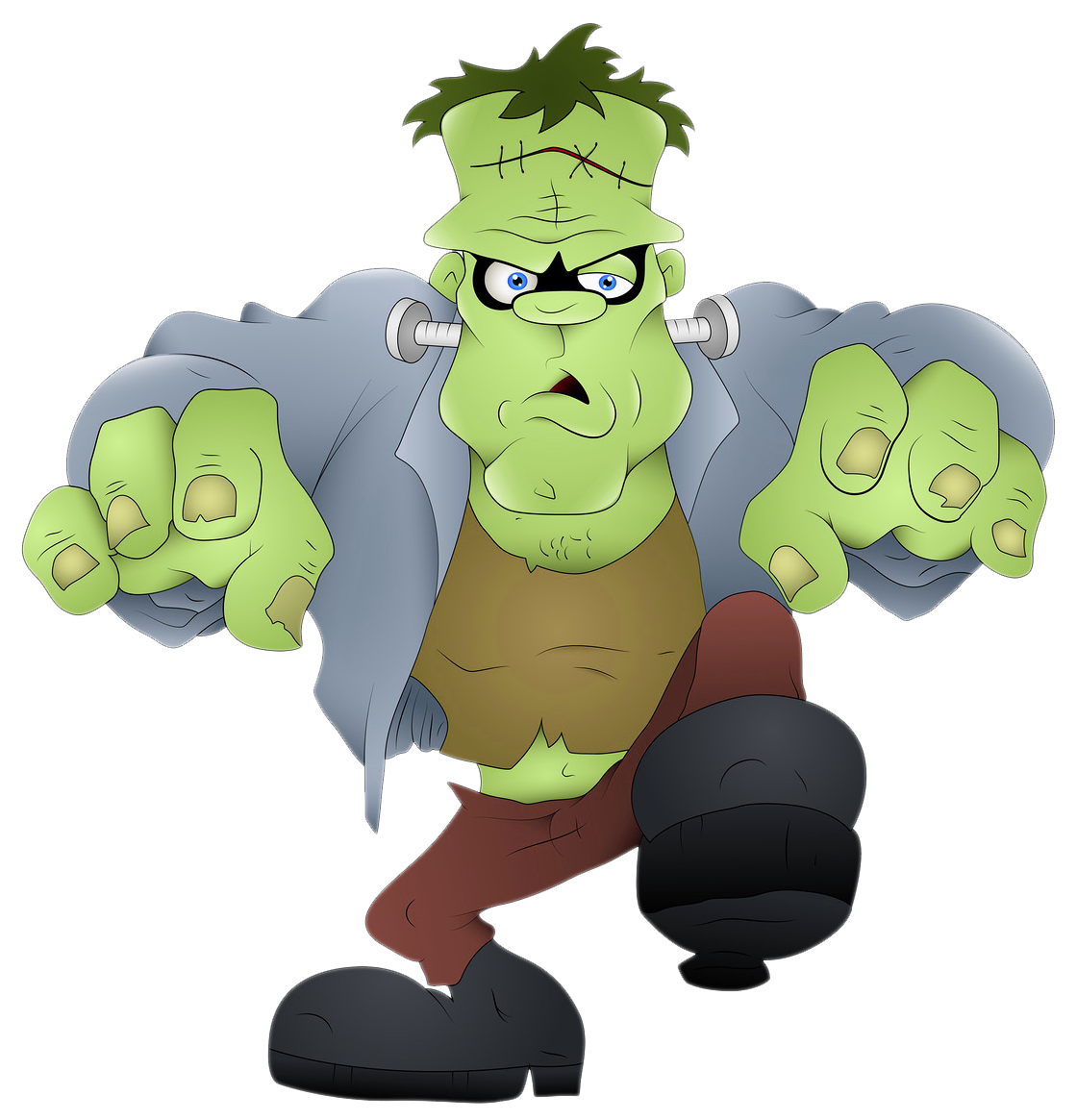 Halloween mask clipart clip art freeuse download Frankenstein PNG Picture | Gallery Yopriceville - High-Quality ... clip art freeuse download