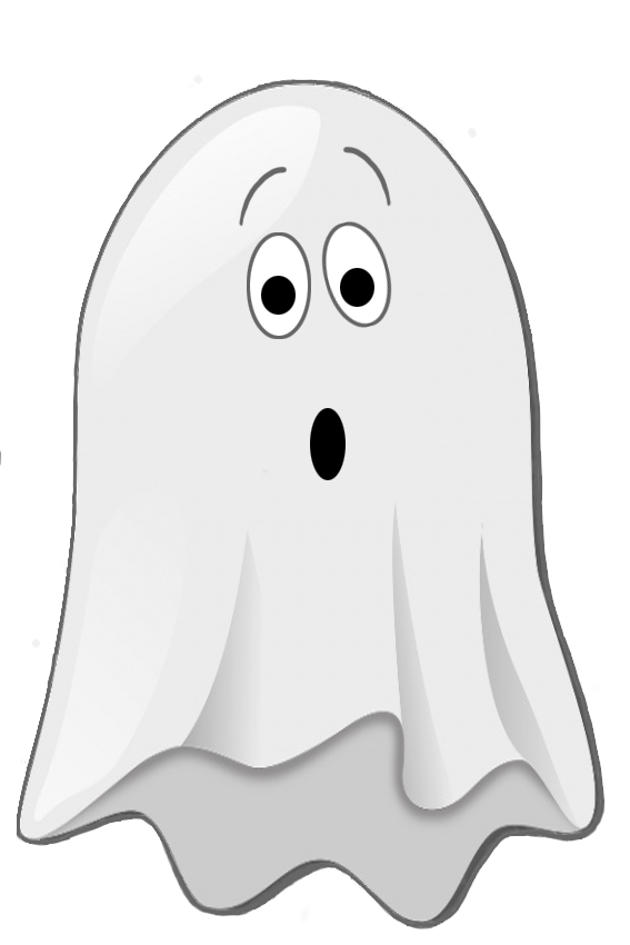 Scared little ghost clip. Easy spooky pumpkin clipart black and white