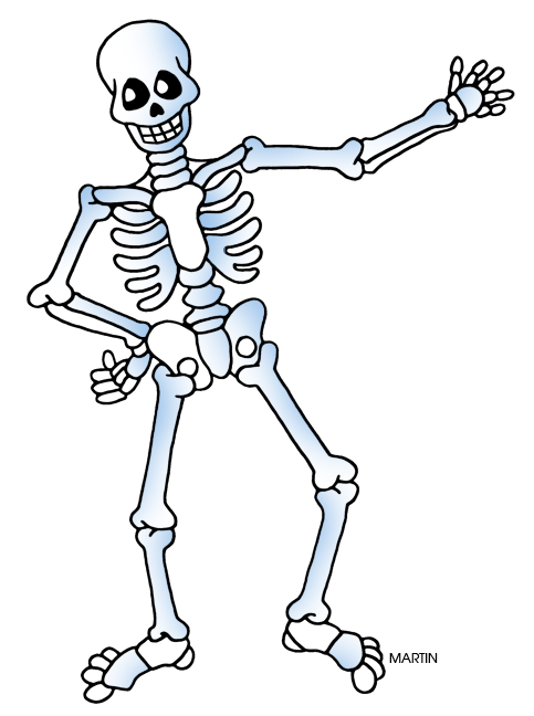 Cute halloween skeleton clipart.  collection of free