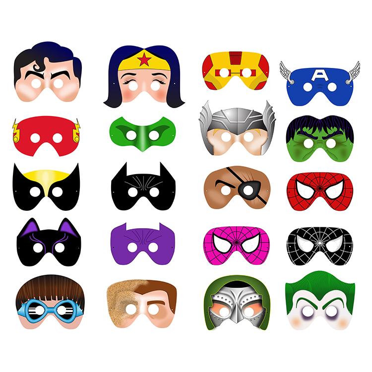 Halloween ninja mask clipart clip black and white library 20 Printable SUPERHERO MASKS $28 | CRAFT | Pinterest | Superhero ... clip black and white library