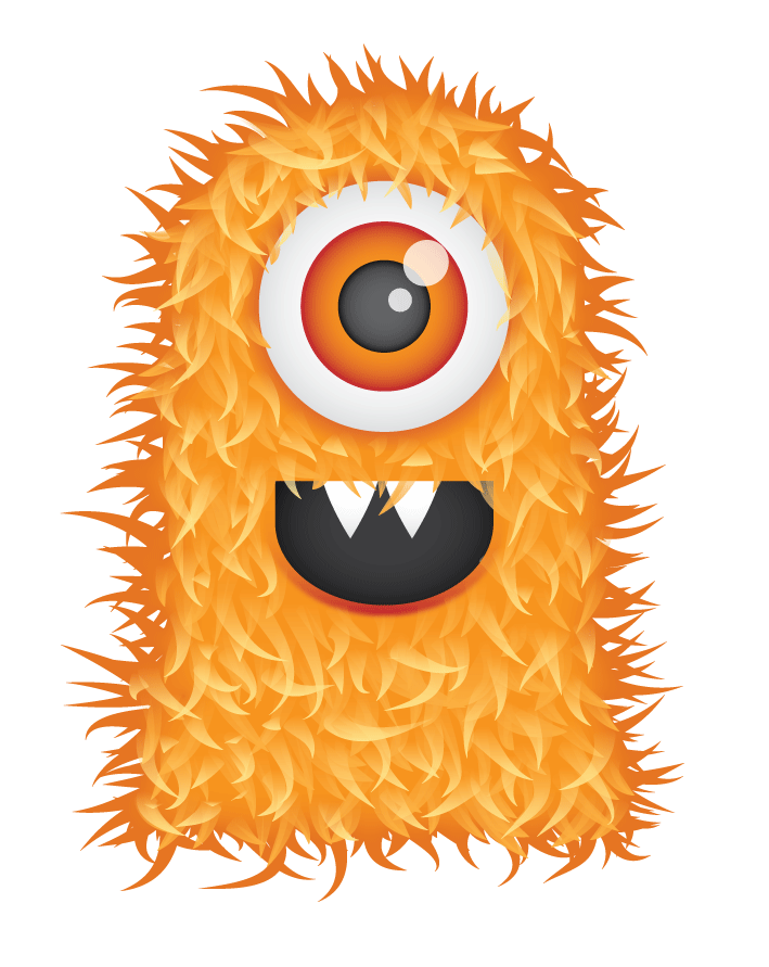 Cute halloween monster clipart free clip library Free Cute Hairy Monster Clipart and Vector Graphics - Clipart.me clip library