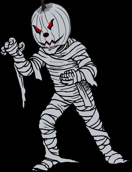 Forgetmenot. Cute mummy clipart halloween