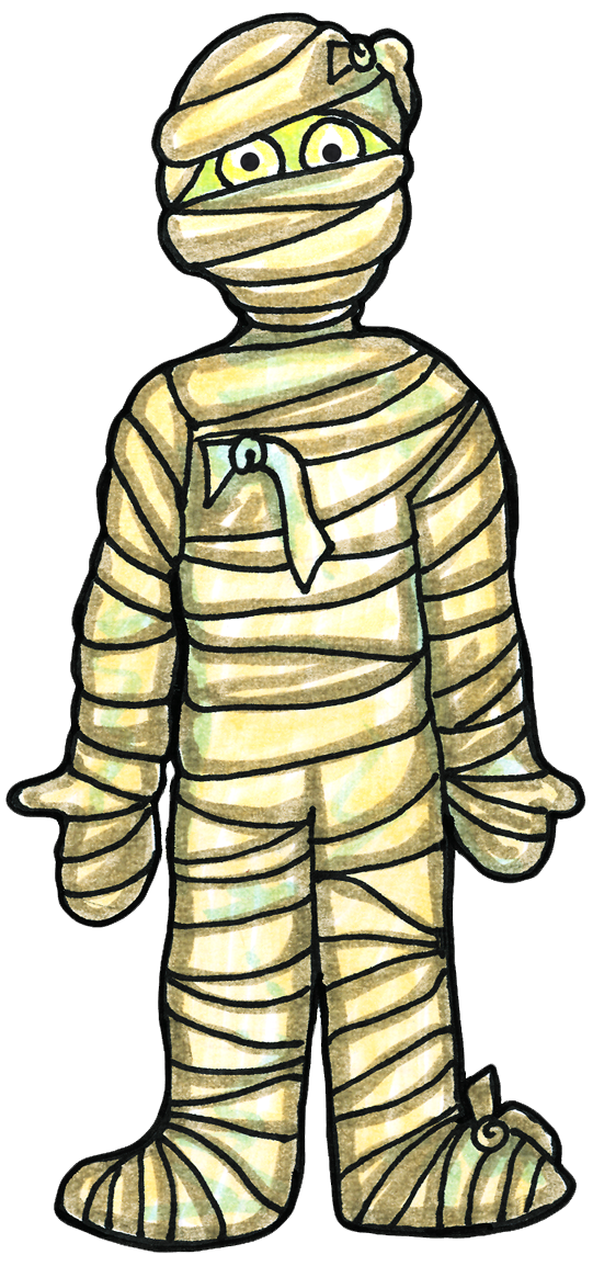 collection of for. Cute mummy clipart halloween
