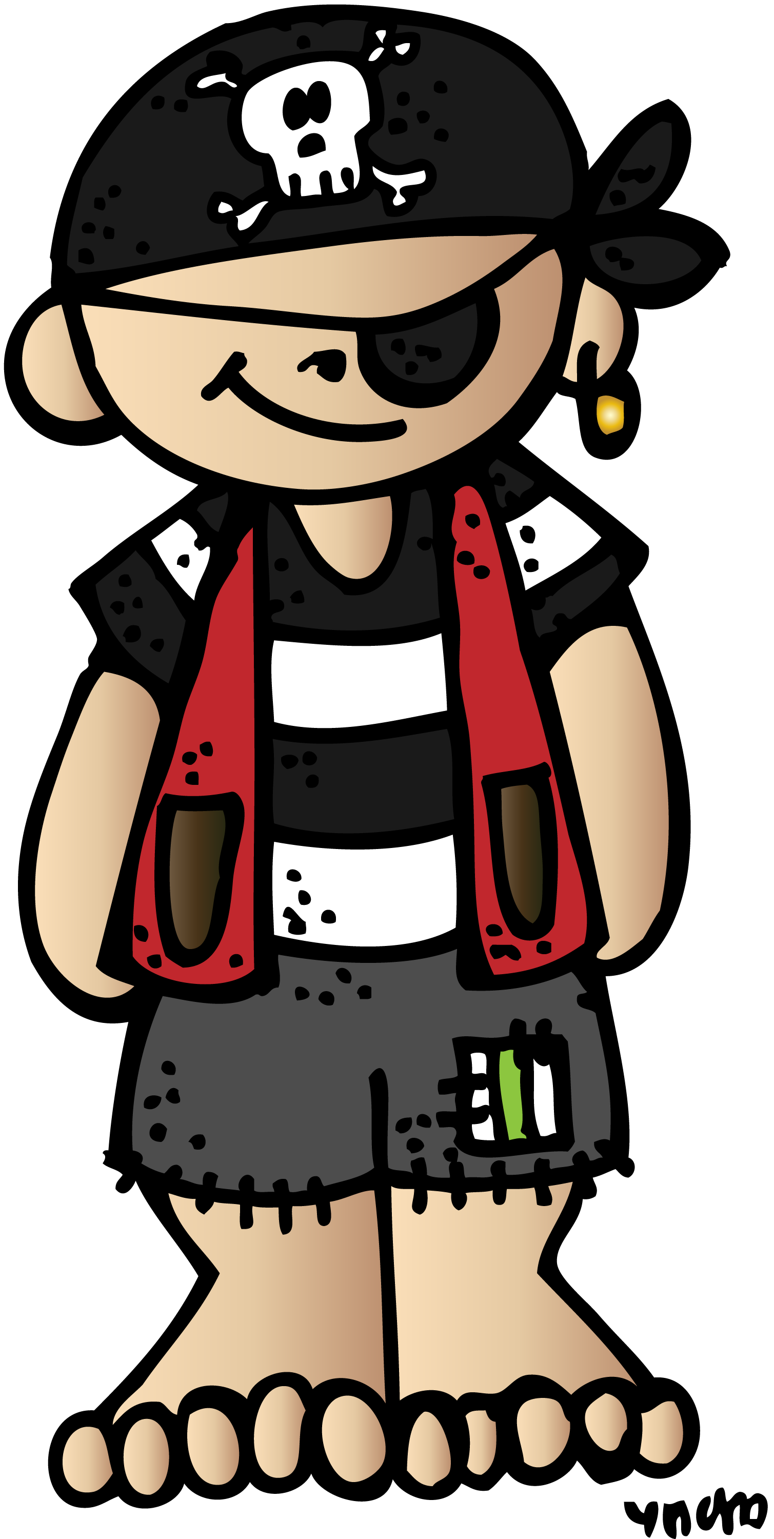 Cute halloween pirate clipart. Melonheadz freebies google mu