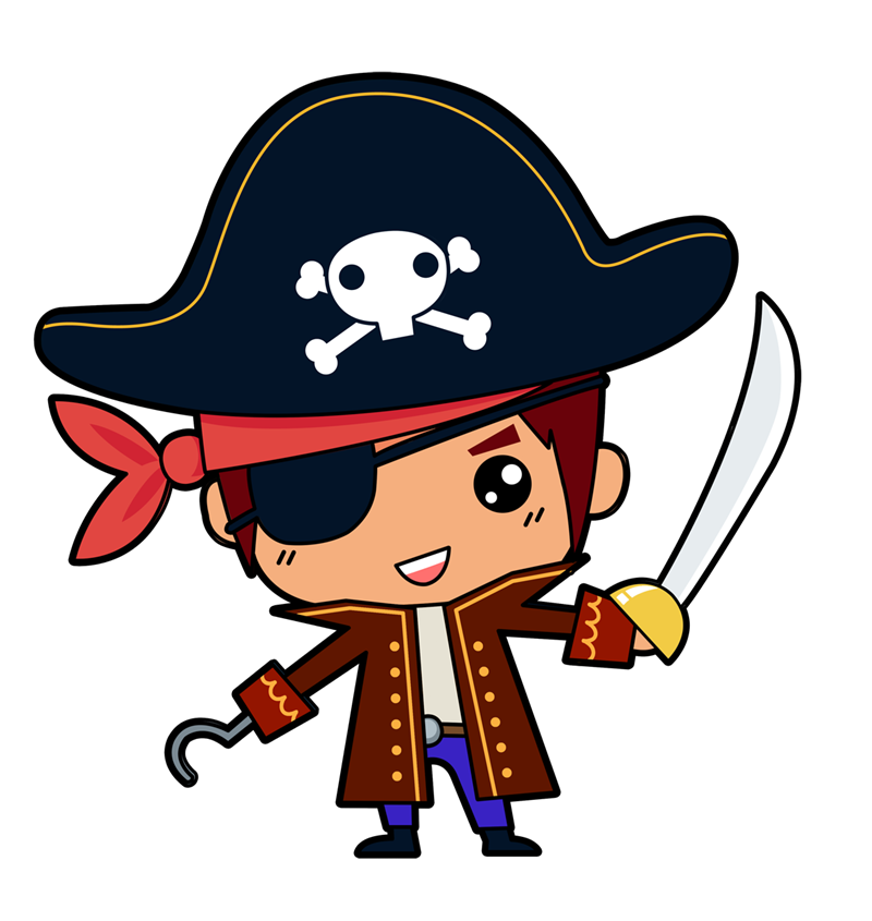 This is little pirates. Cute halloween pirate clipart