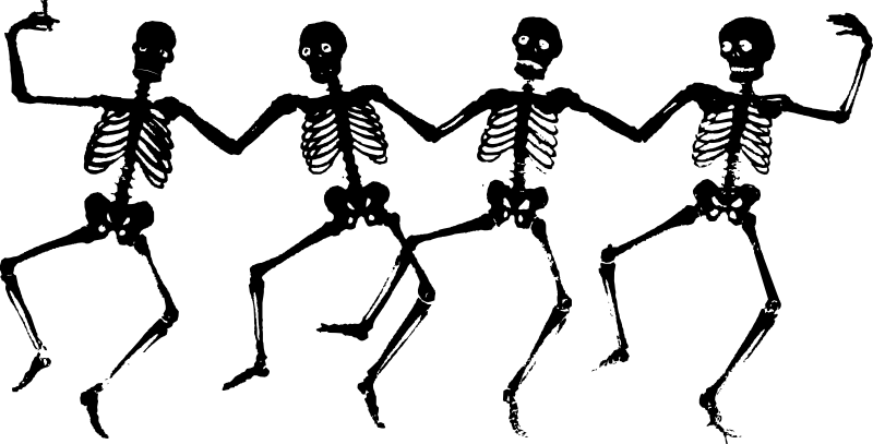 Pictures of skeletons pretty. Cute halloween skeleton clipart