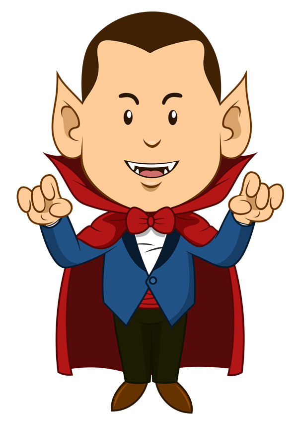 Cute halloween vampire clipart. Dracula this cartoon clip