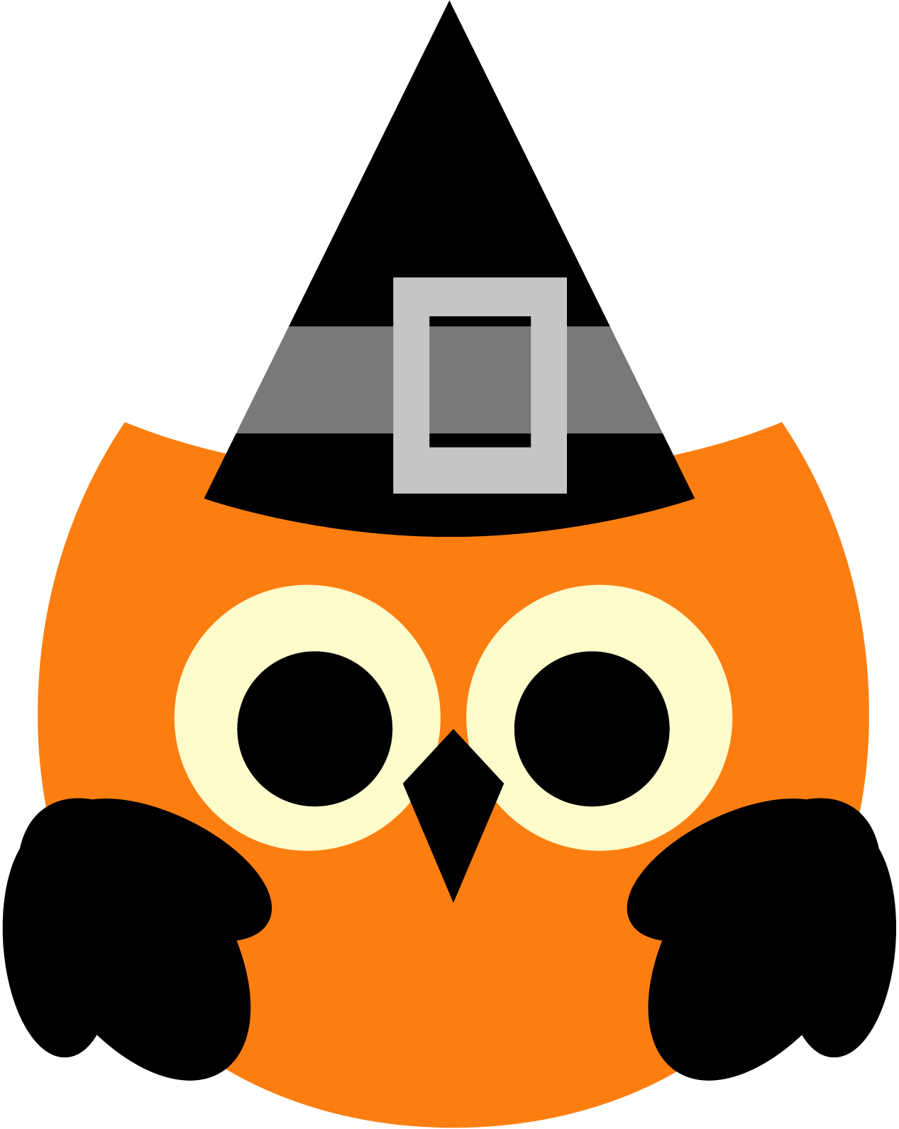 Cute halloween witch face clipart svg transparent stock Cute halloween owl clipart png svg transparent stock