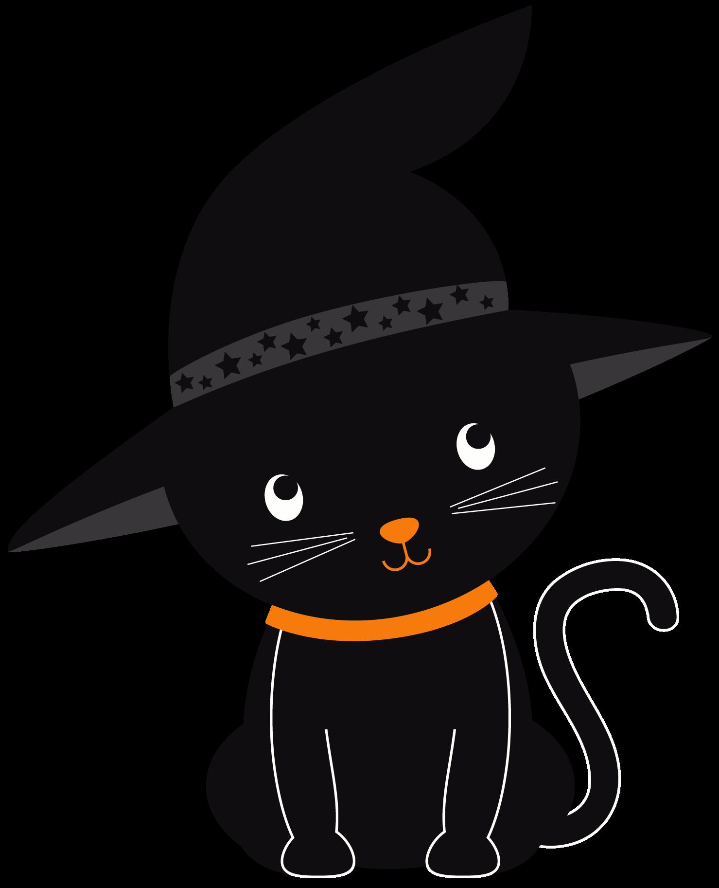 Halloween clipart black background download Cute Halloween Cat Clipart | Free download best Cute Halloween Cat ... download
