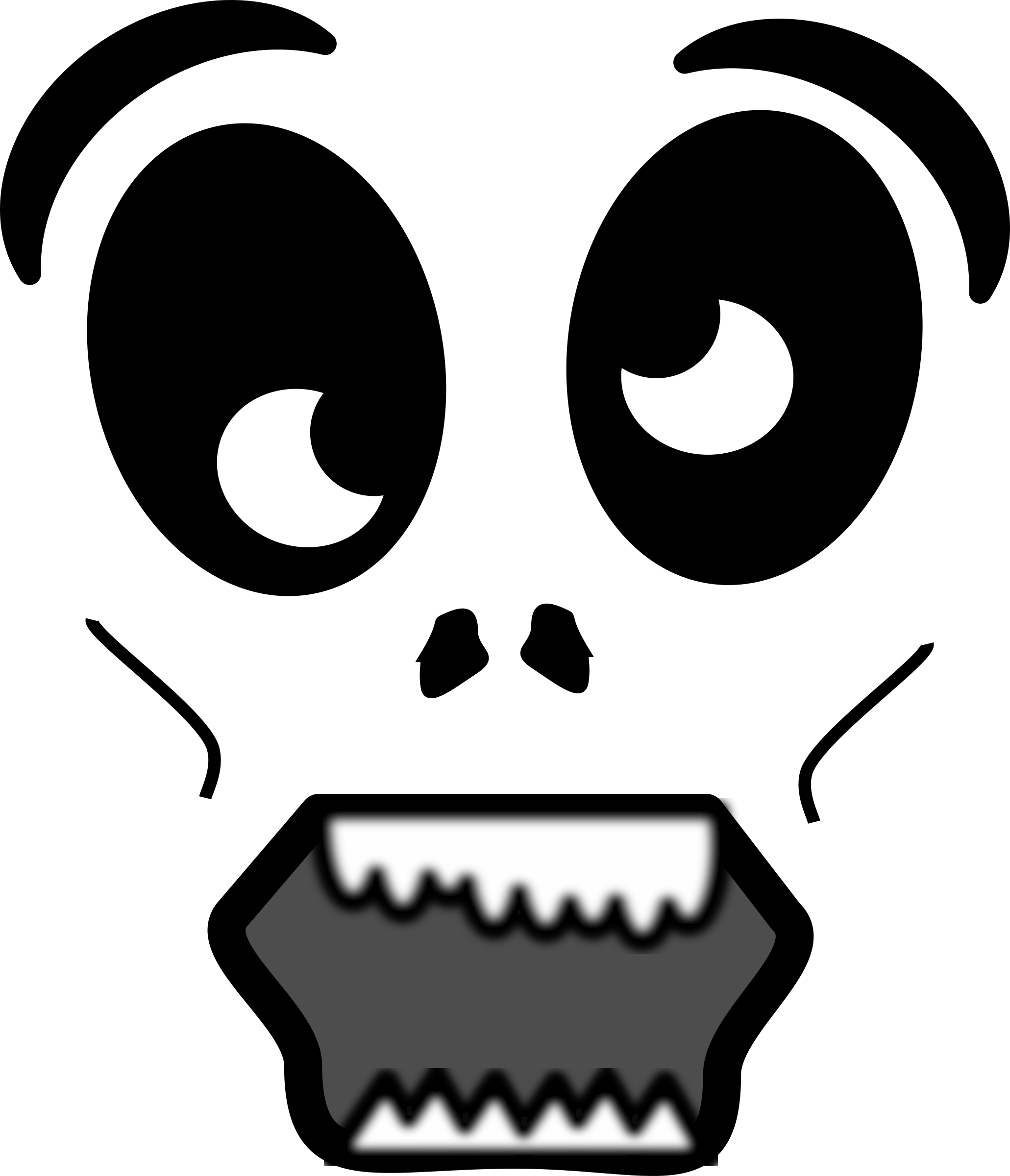 Clipart - Cartoon Zombie Face jpg free library