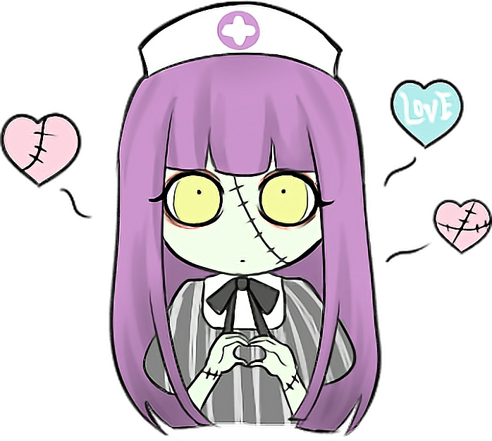 Cute halloween zombie clipart svg download zombie doctor nurse kawaii love cute Halloween ghost... svg download