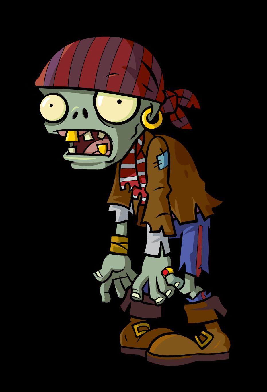 Cute halloween zombie clipart graphic zombi pirata | plantas vs zombies | Pinterest graphic