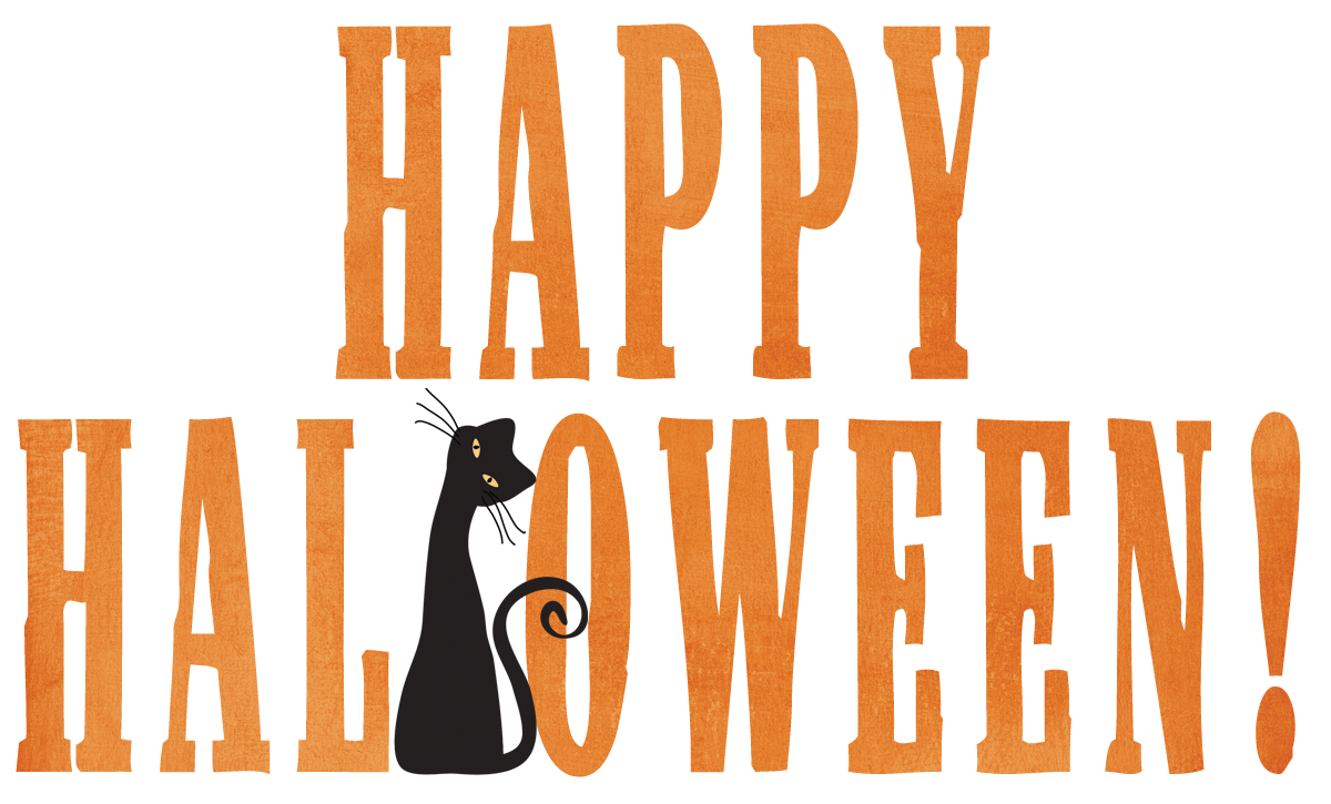 Happy halloween words clipart banner freeuse library Happy Halloween Cute Cat Png banner freeuse library