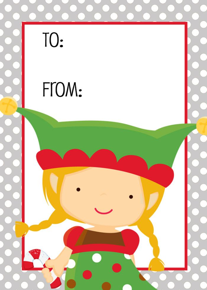 Cute happy holidays gift with tag clipart