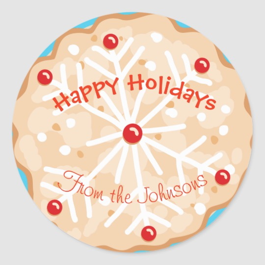 Cute happy holidays gift with tag clipart library Cute Cookie Happy Holidays Gift Tag Christmas library