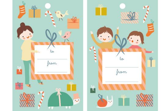 Cute happy holidays gift with tag clipart image free stock Happy Holidays! | Christmas | Gift tags printable, Free ... image free stock