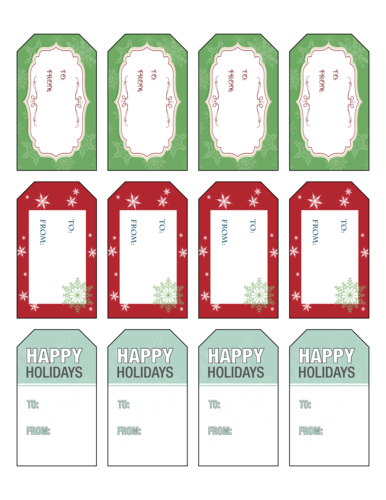 Cute happy holidays gift with tag clipart clip art royalty free Gift Labels Templates - Download Gift Tags & Label Designs clip art royalty free