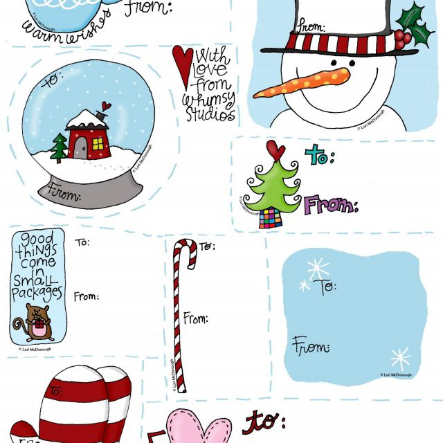 Cute happy holidays gift with tag clipart banner library 40 Sets of Free Printable Christmas Gift Tags banner library
