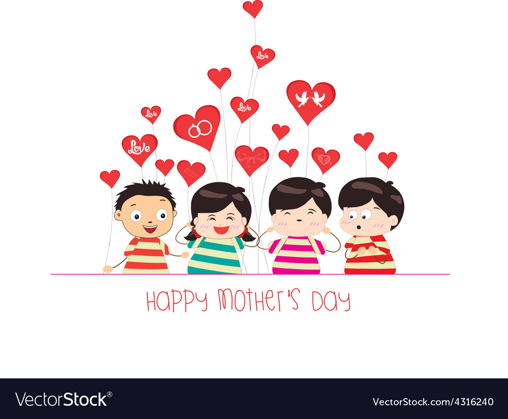Cute happy mothers day cliparts banner library Happy mother day with kid funny banner library
