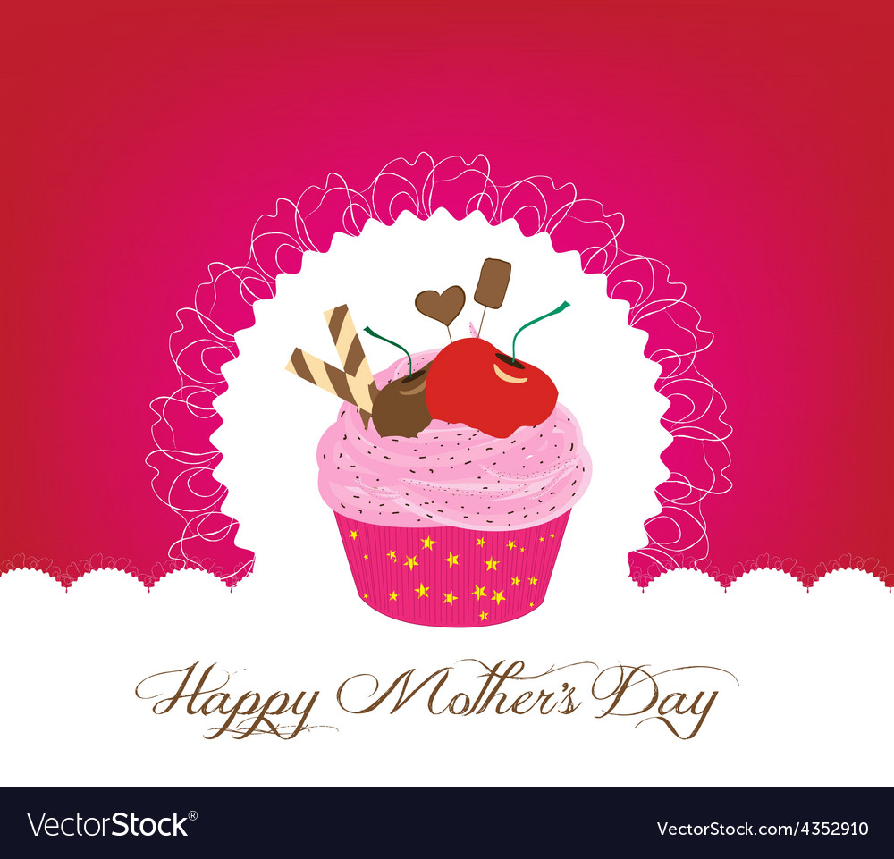 Cute happy mothers day cliparts clip freeuse stock Cupcake cute happy mothers day card clip freeuse stock
