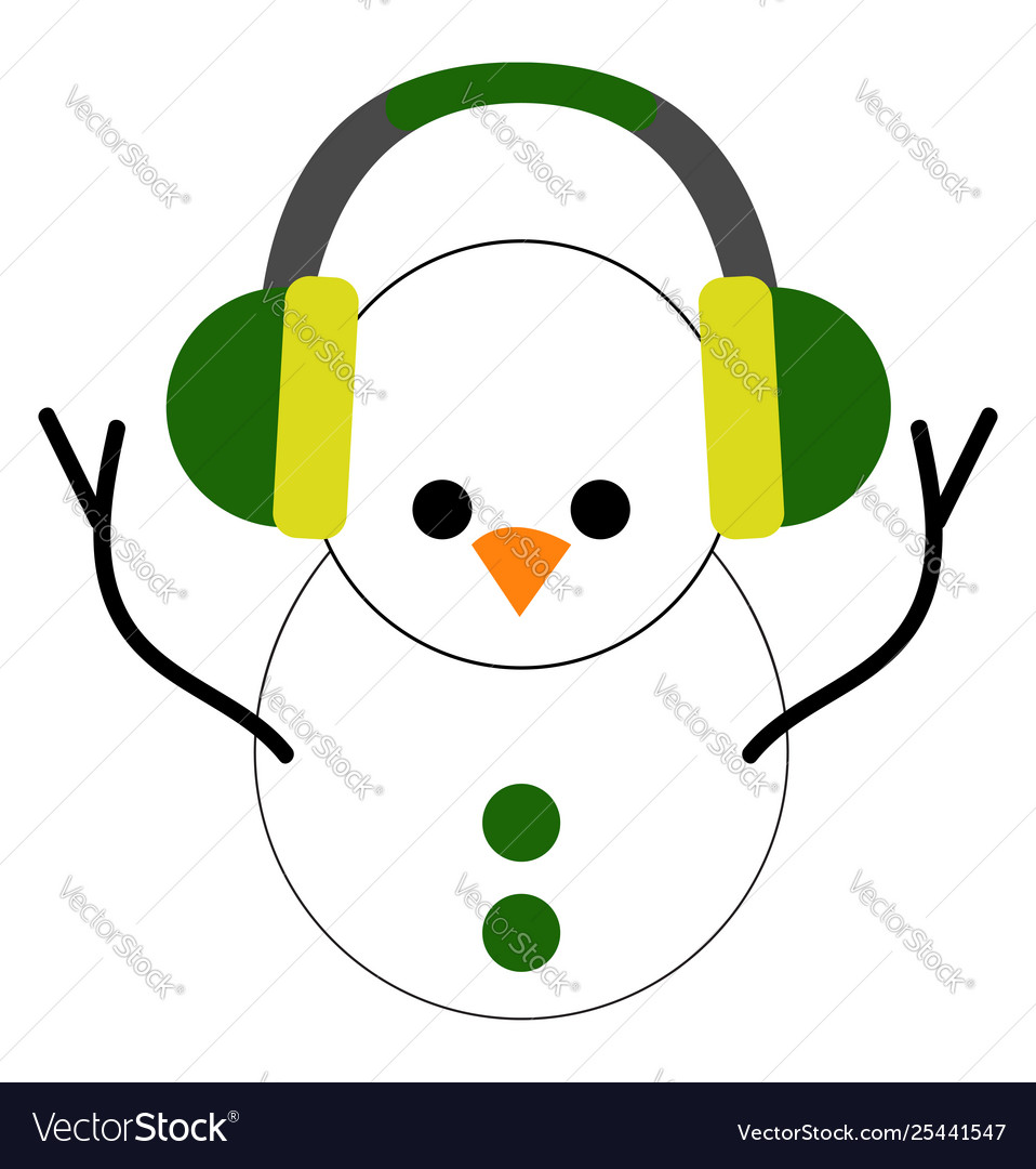 Clipart cute little snowman with green picture black and white download