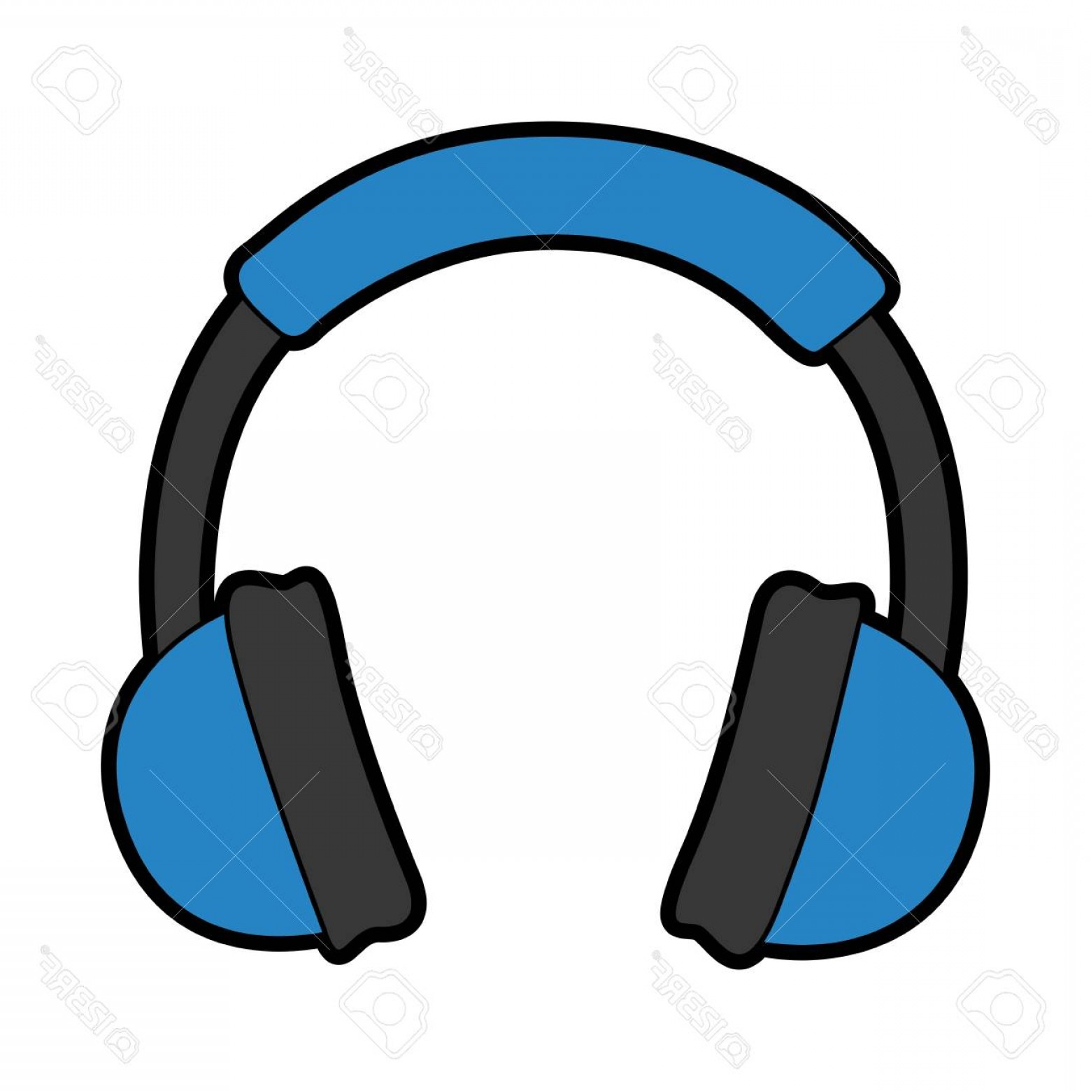Blue Headphone Vector Art | CQRecords picture freeuse stock